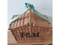 Original Fortnum and Mason Picnic Hamper with Original Straw and Ribbon
