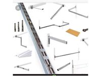 Garment Rail Twin Slot Upright Clothes Display & Shelving Storage System
