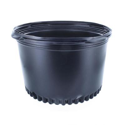 (5 / 7 / 10 Gallon) - Squat Nursery Pots Plant Containers (Wider & Shorter) 5 Gallon Nursery Pot