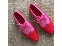 Brand new Melissa Classic Brogue pink and red UK 4.5