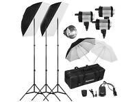 Professional Photography Studio Flash Lighting Kit. Excelvan high quality 900W Kit Plus Accessories
