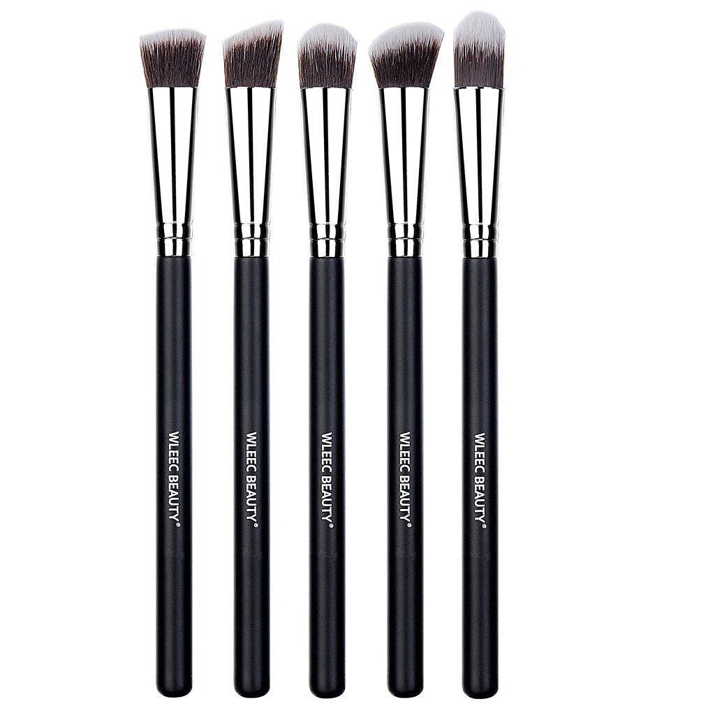 5 Pieces Makeup Eye Brush Set Eyeshadow Eyeliner Blending Crease Kit Health & Beauty