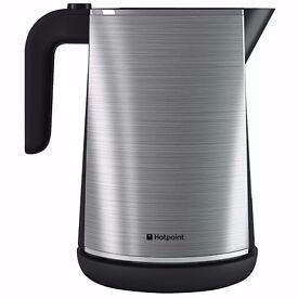 New Boxed Hotpoint WK30MAX0 1.7 Litre Cordless Kettle Stainless Steel Was: £69.99