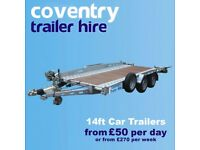 Trailer Rental - Coventry Trailer Hire - BIRMINGHAM/SOLIHULL/TAMWORTH - Self Recovery Car Trailers