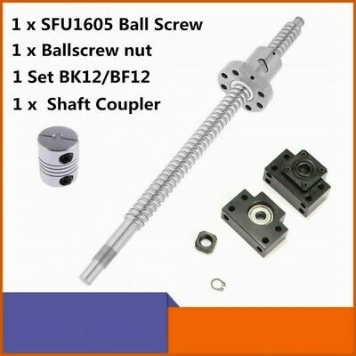Ball Screw Sfu1605 Rm1605 16mm L250mm-1500mm W Nutbkbf12 End Supports Coupler