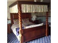 Superking four poster bed.