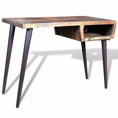 Vidaxl Office W Iron Legs Desk Reclaimed Wood Workstation Writing Tables