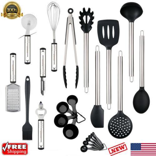 23PCS Stainless Steel Kitchen Utensil Set Heat Resistant Non