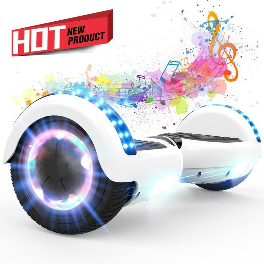 """6.5""""  Hoverboards Self Balancing Electric Scooter Off Road Bluetooth Kinder Weiß"""