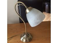 BHS Brass / Glass Table Lamp