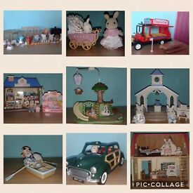 Large collection of Sylvanian Families toys