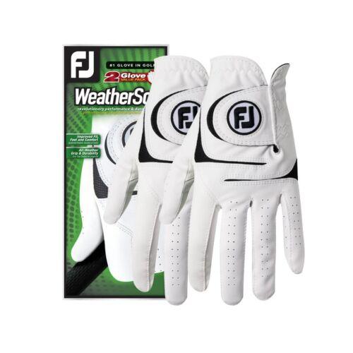 2021 FJ FootJoy WeatherSof 2-Pack Golf Gloves Mens & Ladies - Choose a Size!-NEW
