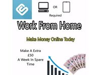 Work From Home (Requires A smartphone or a pc with internet connection)