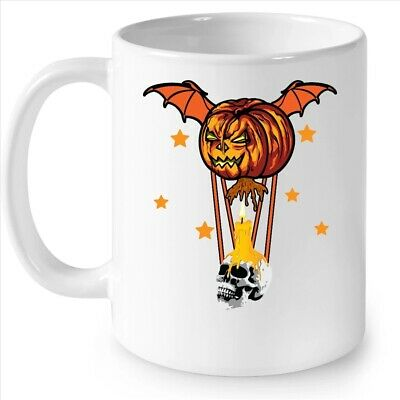 Halloween Horror Pumpkin Skull Coffee White Mug