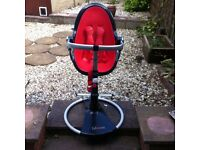 Bloom Fresco Chrome red and black modern quirky (egg shape) highchair