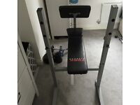 Workout bench / Multigym, with weights for for sale. Barely used and in great condition.