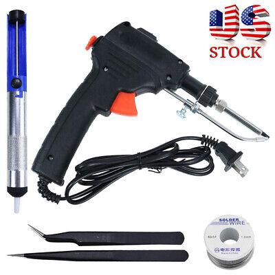 60w Auto Electric Soldering Iron Gun With Flux 2 Solder Wire Tin Wire 50g Fd
