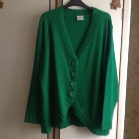 Ladies large button down jacket cardigan - new