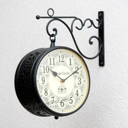 Vintage Double Side Clock/Railway Clock Handcrafted  Clock/Jali Design