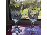 Two Brierley Crystal Goblets