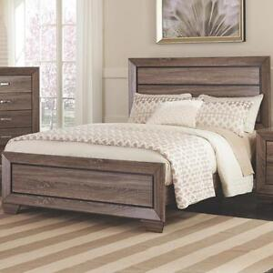 BRAND NEW - QUEEN Modern Light Natural Brown Low Panel Bed Frame !!!