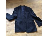 Black linen men's blazer: Marks and Spencer medium