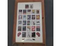 2 SETS OF COLLECTABLE MOHAMAD ALI AND JOE LOUIS BOXING CARDS IN FRAMES