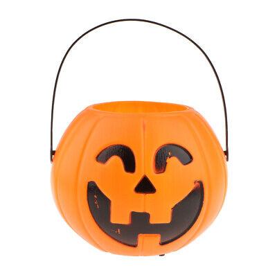 1 x Halloween-Korb in Kürbisform für Süßes oder Saures mit LED Beleuchtung