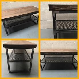 Tv unit/industrial/steel/wood/mesh/made to any size