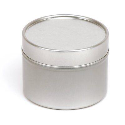 5x 100ml Silver Round Seamless Solid Slip Lid Tins