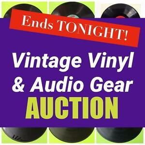 Ends TONIGHT! MASSIVE Vinyl Record Collection, Music Memorabilia, Vintage and New! Hundreds of Records, audio