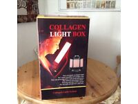 Collagen light box uses red light therapy to stimulate production of collagen, rejuvenating skin.