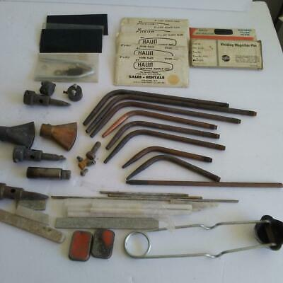 Welding Group Of Tools Torches Lens Parts Vintage