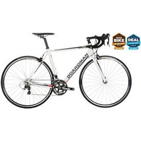 Boardman Road Team Carbon Bike 2017 White 55.5cm **NEW IN BOX**