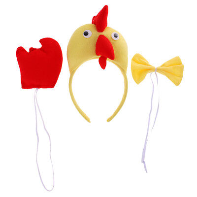 3/set Kids Cute Yellow Chicken Chic Costume Zoo Animal Party Fancy - Cute Party Animal Kostüm