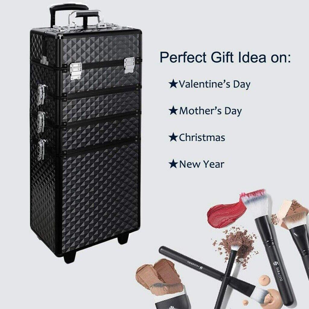 Aluminium Beauty Case Pro Cosmetic Makeup Vanity Nail Storage Box Travel Uk Ebay