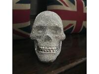 Silver bling skull