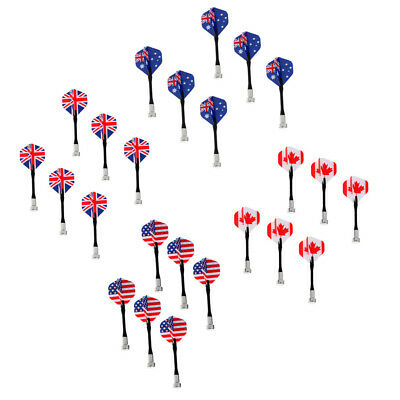 24 Pieces Magnetic Darts for Magnet  Dart Board National Flag