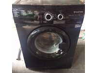 Russel and Hobbs RHWM61200B 1200 spin washer in black 6kg