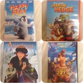 4 children's DVDs