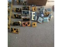 Brass switches , dimmers and sockets. Job lot