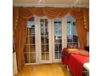 john lewis hand made luxurious curtains and matching silk blinds