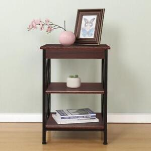 NEW Soges 3 Tiers Coffee Tables Modern Style End Table Sofa & Console Tables Black