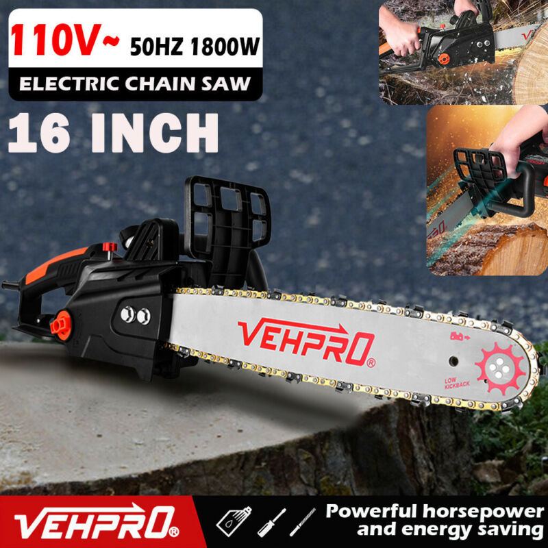 cordless Electric Chainsaw 16 inch bar and Chain Self Sharpe