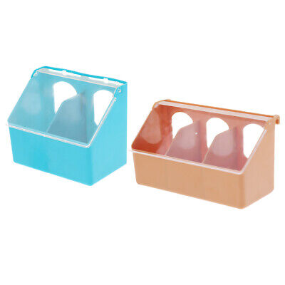 2 Pieces Plastic Pigeon Birds Food Water Bowl Feeder Feed Cage Sand Cup Dish