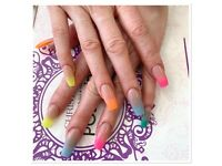 Nails service. Nails Manicure Acrylic Shellac Ombré nails SNS dipping powder Pedicure