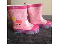 Girl's Peppa pig wellies size 5