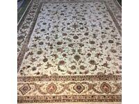 Luxury Persian Wool Rug Tabriz Indo from Harrods 3.8meters x 2.8meters FREE FROM DUST - £2600