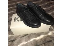 Men's all black leather kenzo shoes