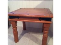 Mexican style solid pine coffee table